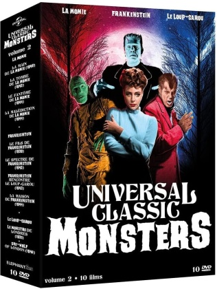 Universal Classic Monsters - Volume 2 - 10 Films (10 DVDs)