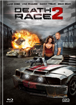 Death Race 2 (2010) (Cover A, Limited Edition, Mediabook, Uncut, Blu-ray + DVD)