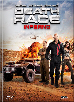 Death Race 3 - Inferno (2013) (Cover B, Limited Edition, Mediabook, Uncut, Blu-ray + DVD)