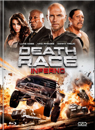 Death Race 3 - Inferno (2013) (Cover A, Limited Edition, Mediabook, Uncut, Blu-ray + DVD)