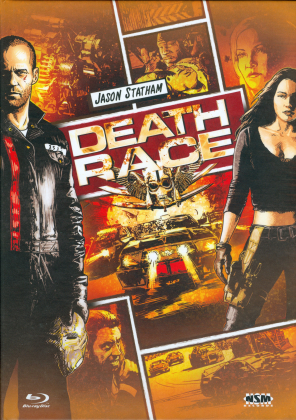 Death Race (2008) (Cover B, Extended Edition, Limited Edition, Mediabook, Blu-ray + DVD)