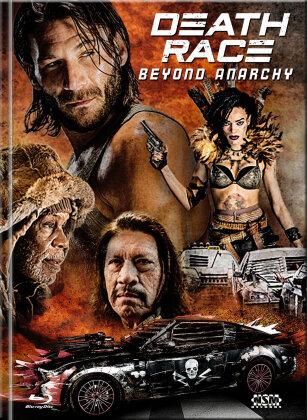 Death Race 4 - Beyond Anarchy (2016) (Cover B, Limited Edition, Mediabook, Uncut, Blu-ray + DVD)