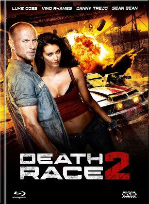 Death Race 2 (2010) (Cover B, Limited Edition, Mediabook, Uncut, Blu-ray + DVD)