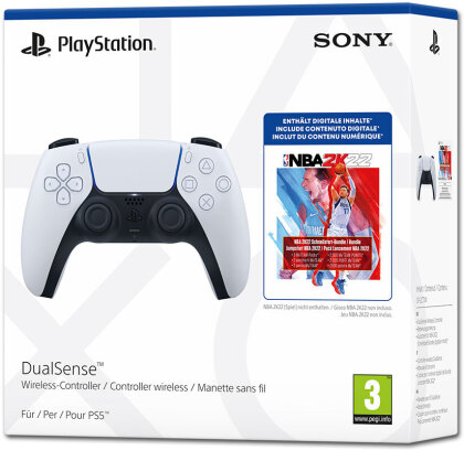 PS5 Controller DualSense White - (inkl. NBA 2K22 DLC Pack)