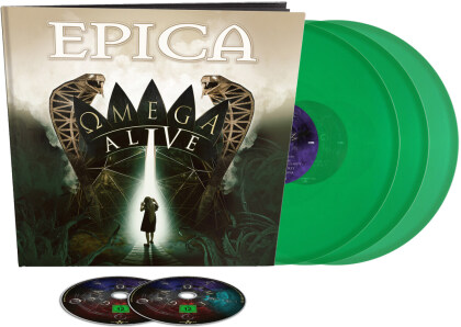 Epica - Omega Alive (Limited Earbook Edition, Green Vinyl, 3 LPs + DVD + Blu-ray)