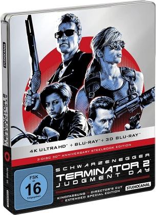 Terminator 2 - Judgment Day (1991) (30th Anniversary Limited Edition, Steelbook, 4K Ultra HD + Blu-ray + Blu-ray 3D)