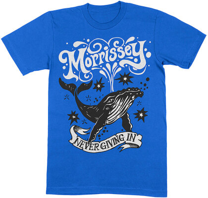 Morrissey Unisex T-Shirt - Never Giving In/Whale