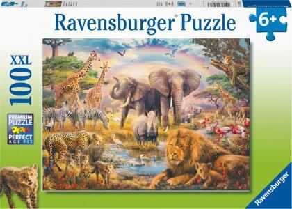 Ravensburger Kinderpuzzle - Afrikanische Savanne - 100 Teile Puzzle für Kinder ab 6 Jahren
