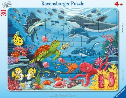 Ravensburger Kinderpuzzle - Unten im Meer - 30-48 Teile Rahmenpuzzle für Kinder ab 4 Jahren