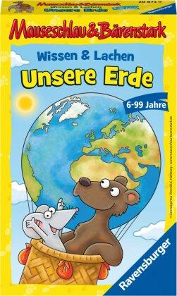 Ravensburger Mitbringspiel – 20873 – Mauseschlau&Bärenstark Wissen und Lachen Unsere Erde – Quiz- und Aktionsspiel mit Fragen rund um unsere Erde - für Kinder ab 6 Jahren