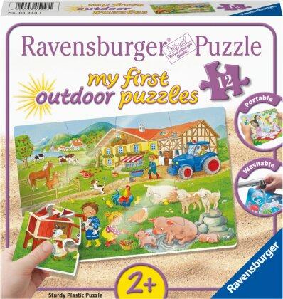 Ravensburger Kinderpuzzle - Lotta und Max auf dem Bauernhof - 12 Teile my first outdoor Puzzle für Kinder ab 2 Jahren