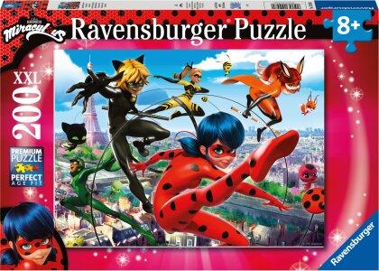 Ravensburger Puzzle 12998 - Superhelden-Power - 200 Teile XXL Miraculous Puzzle für Kinder ab 8 Jahren