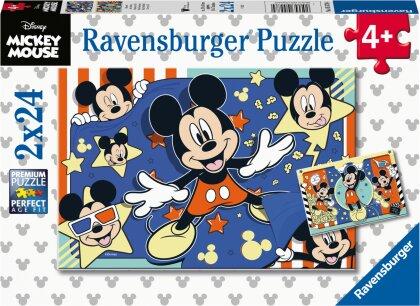 Ravensburger Kinderpuzzle 05578 - Film ab! - 2x24 Teile Disney Puzzle für Kinder ab 4 Jahren