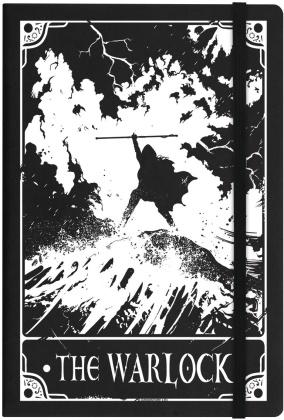 Deadly Tarot Warlock Black A5 Hard Cover Notebook