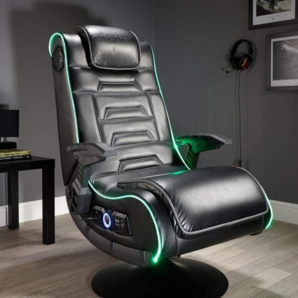 X Rocker Evo Pro 4.1 Multi-Stereo Audio Gaming Chair With LED Edge Lighting