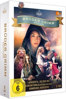 Brüder Grimm Edition - Aschenputtel / Der süsse Brei / Schneewittchen und der zauber der Zwerge / Dornröschen / Rotkäppchen (Märchenperlen, 5 DVDs)