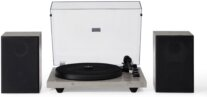 Crosley - C62 Shelf System (Grey) Now With Bluetooth Out