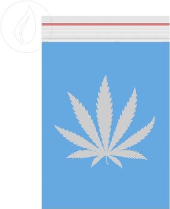 Grip Blue Logo Transparent 60x80mm - 100 Grips durchsichtig