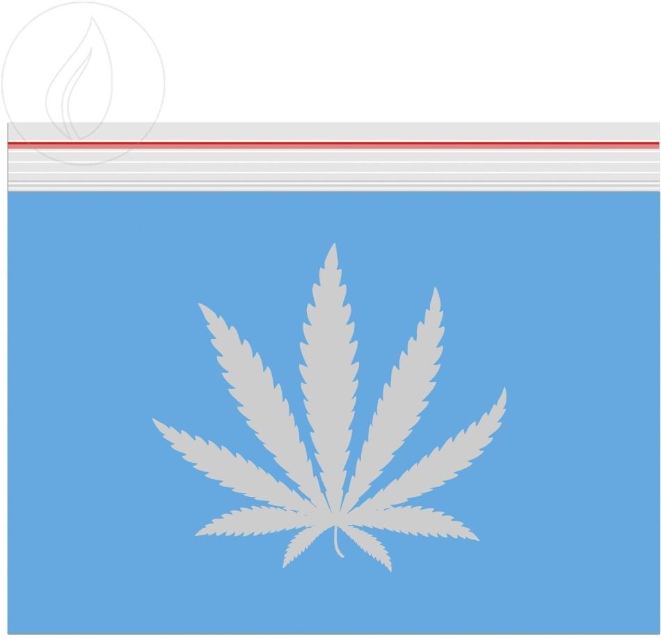 Grip Blue Logo Transparent 85x60mm - 100 Grips durchsichtig