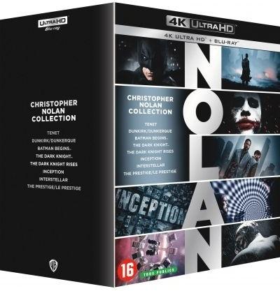 Christopher Nolan Collection - Tenet / Dunkirk - Dunkerque / Batman Begins / The Dark Knight / The Dark Knight Rises / Inception / Interstellar / The Prestige - Le Prestige (8 4K Ultra HDs + 16 Blu-rays)