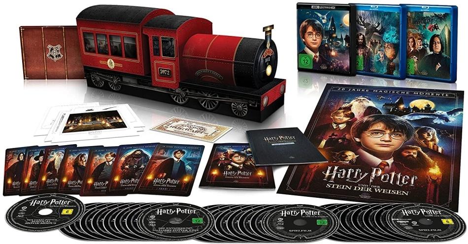 Harry Potter 1-7 (Jubiläums-Sammleredition Hogwarts Express, Limited Edition, 8 4K Ultra HDs + 17 Blu-rays)