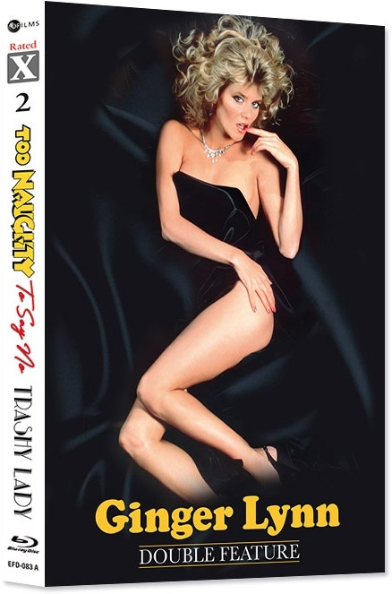 Ginger Lynn Double Feature - Too Naughty To Say No & Trashy Lady (Cover A, Rated X, Limited Edition, Mediabook, 2 Blu-rays + Hörbuch)