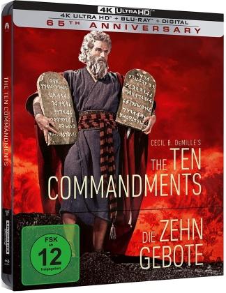 Die zehn Gebote (1956) (Limited Edition, Steelbook, 4K Ultra HD + 2 Blu-rays)