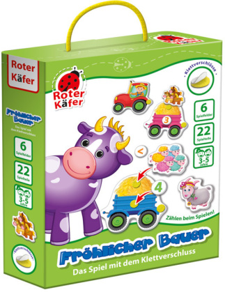 """Lernspiel mit Klettverschluss """"Frohlicher Bauer"""" RK1030-05"""