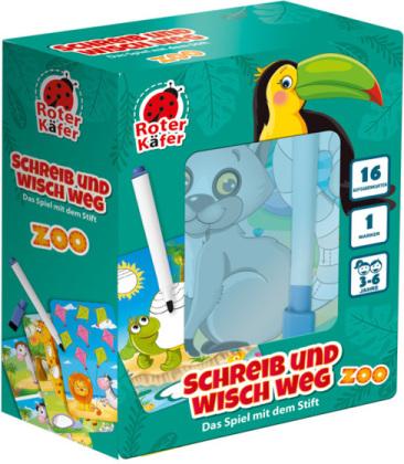 """Lernspiel mit Stift """"Schreib und wisch weg. Zoo"""" RK1020-04"""
