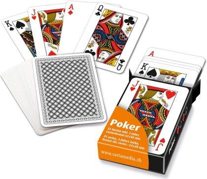 Pokerkarten in Faltschachtel