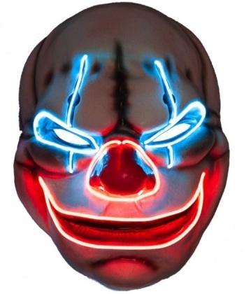 EL Big Mouth Creepy Clown Maske