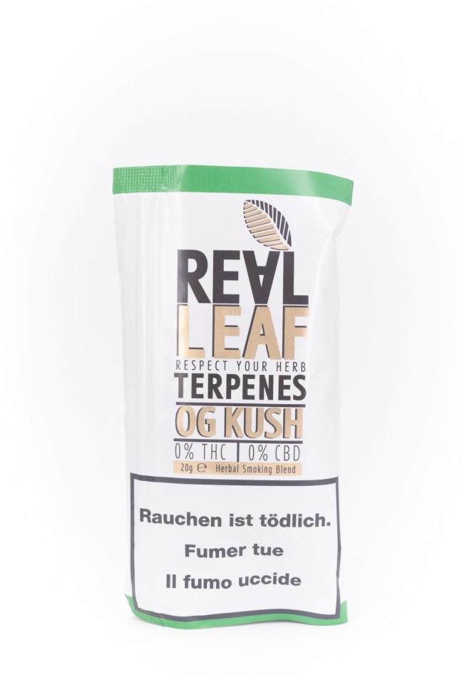 Real Leaf OG Kush - Nikotinfreier Tabakersatz (20g)
