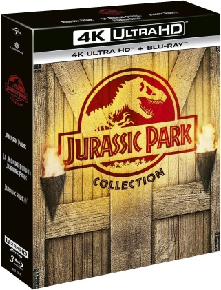 Jurassic Park Collection - Jurassic Park / Le monde perdu: Jurassic Park / Jurassic Park 3 (3 4K Ultra HDs + 3 Blu-rays)