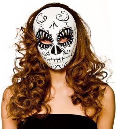 Tag der Toten - Maske weiss