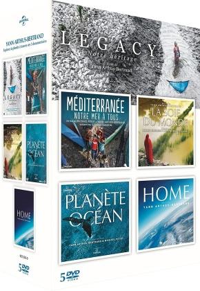 Yann Arthus-Bertrand - Legacy - Notre héritage / Méditerranée - Notre mer à tous / La soif du monde / Planète Océan / Home (5 DVD)