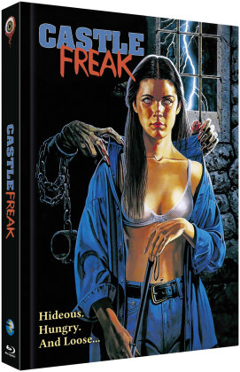 Castle Freak (1995) (Cover B, Limited Collector's Edition, Mediabook, Uncut, Blu-ray + CD)