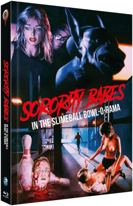 Sorority Babes in the Slimeball Bowl-O-Rama (1988) (Cover B, Limited Edition, Mediabook, Uncut, Blu-ray + DVD)