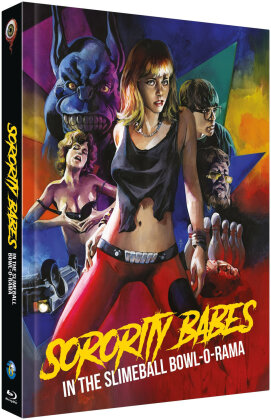 Sorority Babes in the Slimeball Bowl-O-Rama (1988) (Cover C, Limited Edition, Mediabook, Uncut, Blu-ray + DVD)
