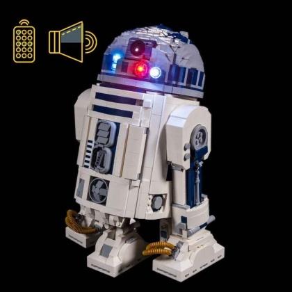 Light My Bricks - LED Licht & Sound Set für LEGO® 75308 Star Wars R2-D2 (inkl. Fernbedienung)