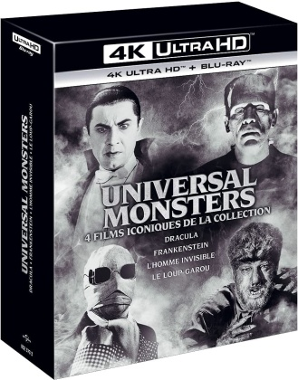 Universal Monsters - Dracula / Frankenstein / L'homme invisible / Le loup-garou (4 4K Ultra HDs + 4 Blu-rays)