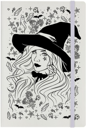 Psychic Witch - Cream A5 Hard Cover Notebook