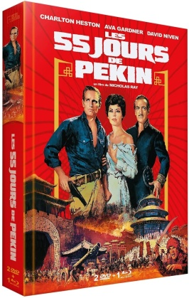 Les 55 jours de Peking (1963) (Limited Edition, Mediabook, Blu-ray + DVD)