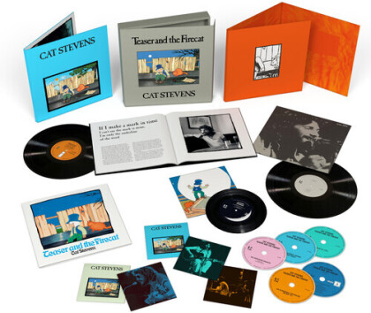 """Yusuf (Cat Stevens) - Teaser And The Firecat (2021 Reissue, Limited Super Deluxe Box, 4 CDs + Blu-ray + 2 LPs + 7"""" Single)"""