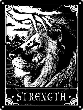 Deadly Tarot: Strength - Mini Tin Sign