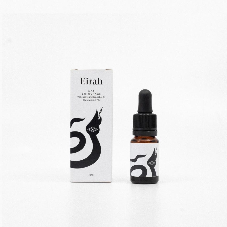 Eirah Vollspektrum Cannabis-Öl Day Entourage (CBD: 7% THC: <0.2%) - 10ml