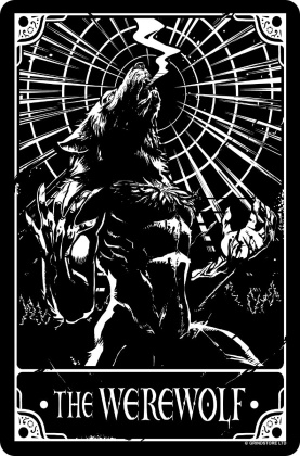 Deadly Tarot: The Werewolf - Small Tin Sign