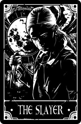Deadly Tarot: The Slayer - Small Tin Sign