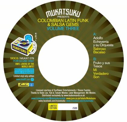 Adolfo Echeverria & Fruko Y Sus Tesos - Columbia Latin Funk & Salsa Gems Vol. 3 (LP)