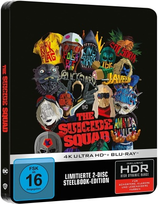 The Suicide Squad (2021) (Limited Edition, Steelbook, 4K Ultra HD + Blu-ray)