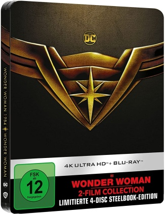 Wonder Woman / Wonder Woman 1984 (Limited Edition, Steelbook, 2 4K Ultra HDs + 2 Blu-rays)